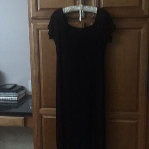 Pea in Pod Black Maxi dress Size L
